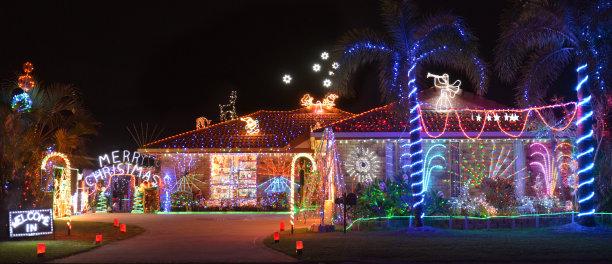 南半球房屋圣诞节