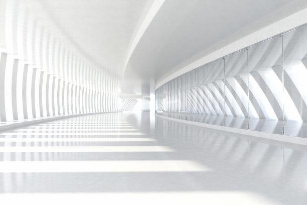 白色走廊建筑