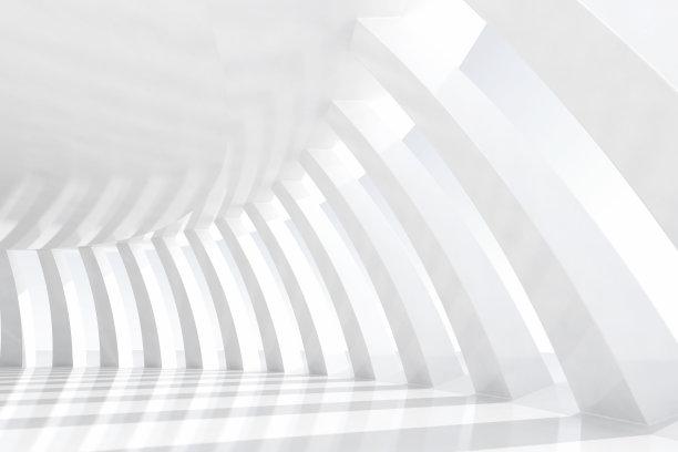白色拱门建筑