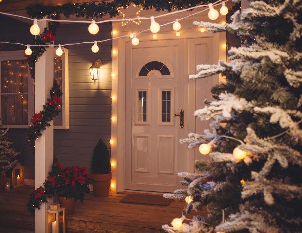 圣诞装饰户外门前露台