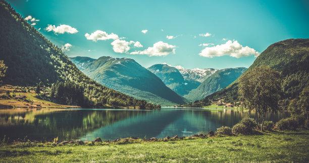 挪威地形图片