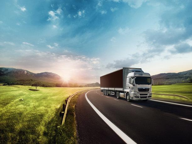 卡车在活动中货车运输