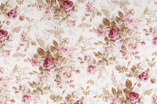 古典式花纺织品