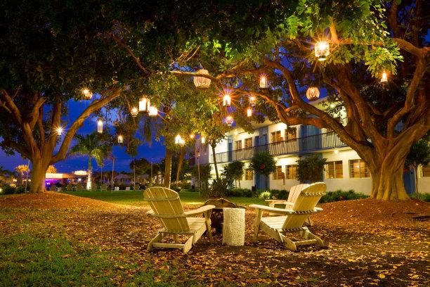 园林椅子灯笼