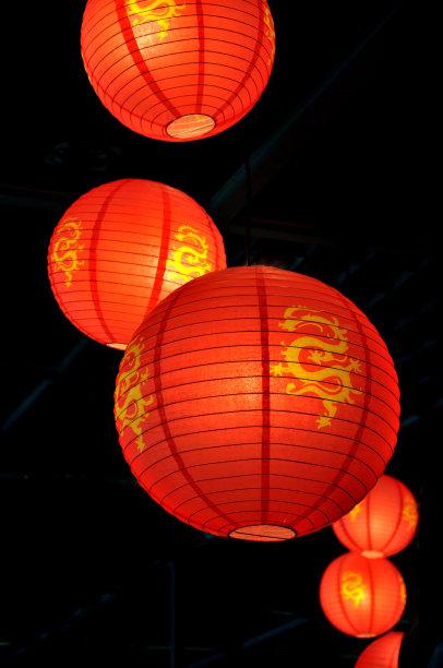 中国灯笼灯笼红色