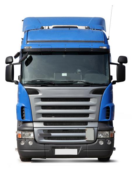 正面视角卡车蓝色