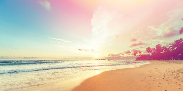 黄昏印度洋摄影