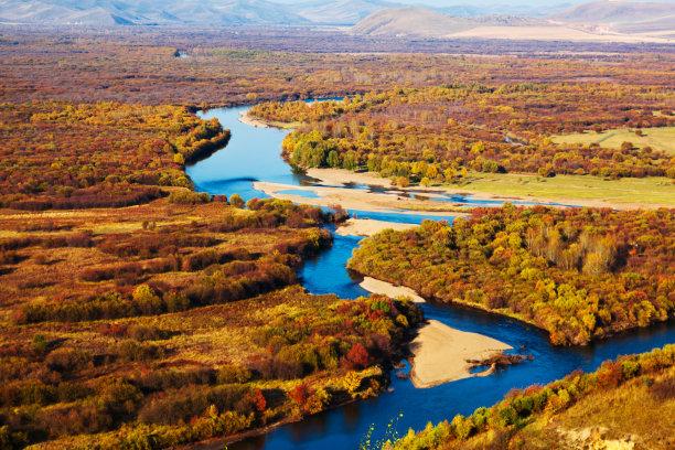 地形秋天国家森林公园