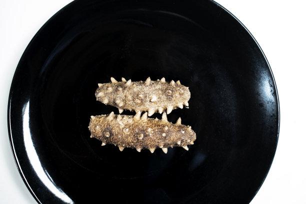 海参干的盘子