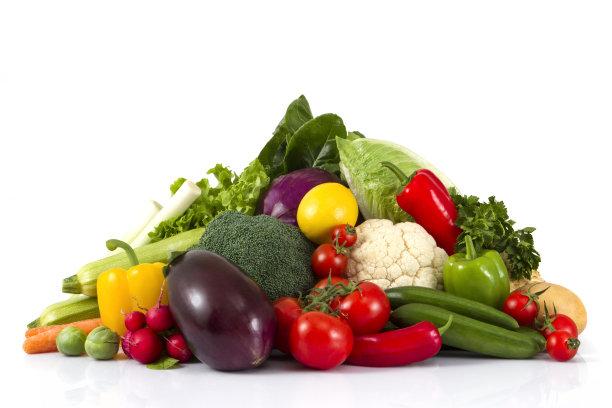 有机蔬菜白色背景