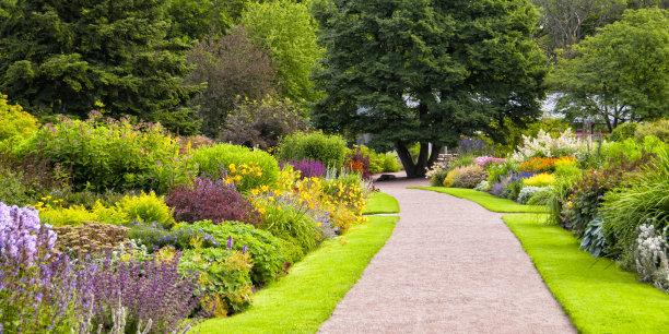园林色彩鲜艳图片