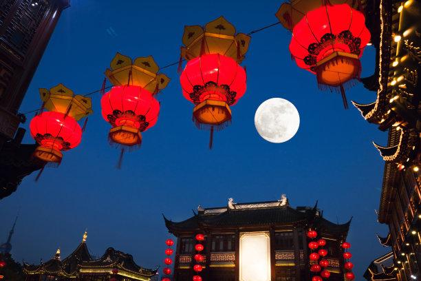 豫园夜晚上海