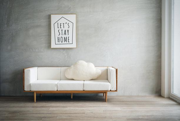 沙发起居室极简构图