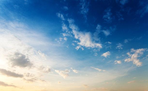 天空,早晨,自然美