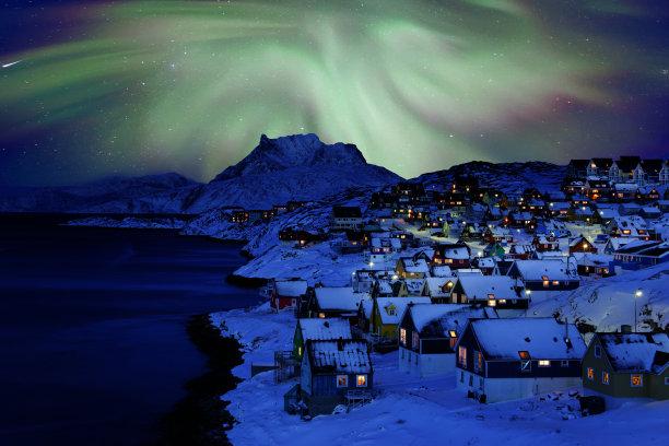 北极光古城图片