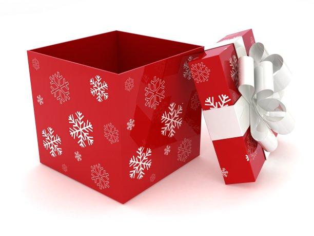 红色圣诞节礼物盒