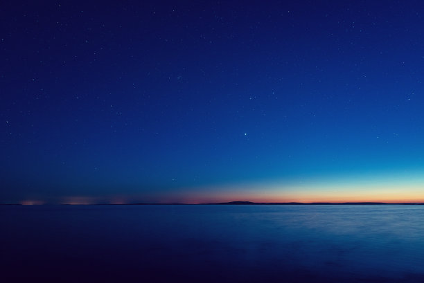 夜晚夜幕海岸