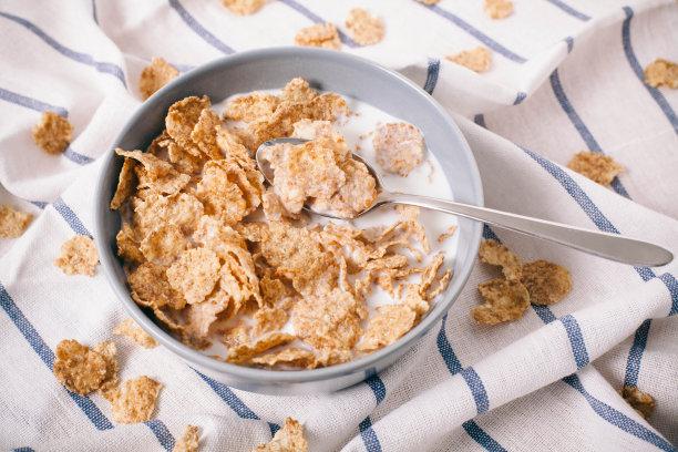 玉米片健康食物图片