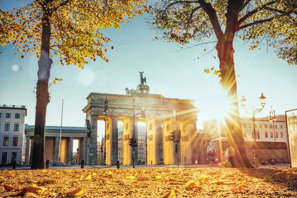 勃兰登堡大门柏林秋天