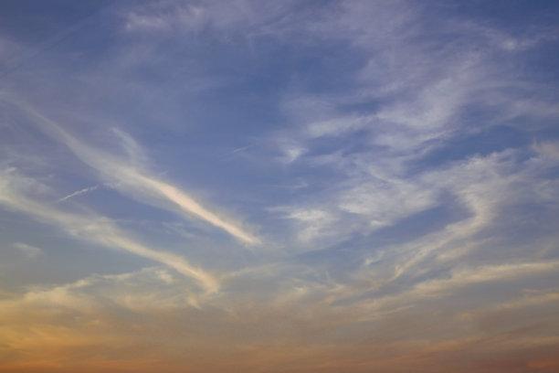 云,天空,风