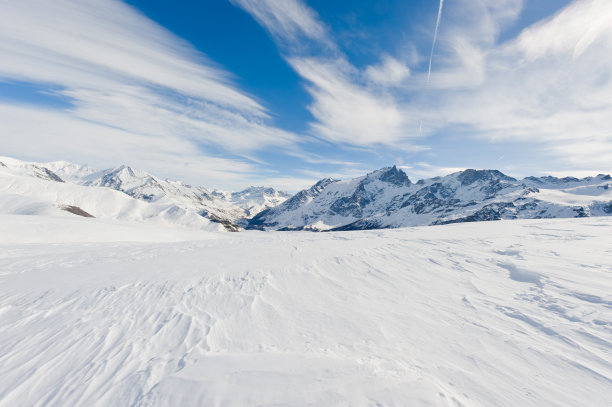 雪山地形风貌