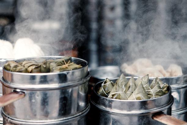 粽子米饺子图片