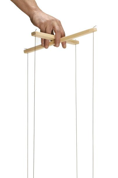 牵线木偶木偶悬挂的