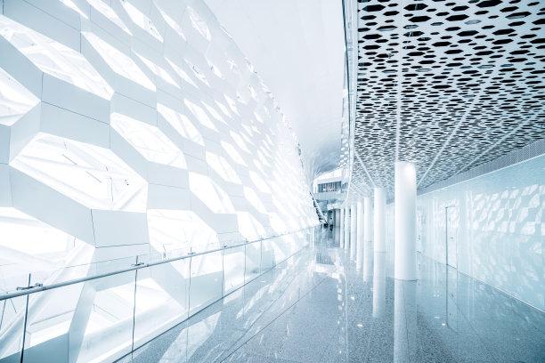建筑未来极简构图