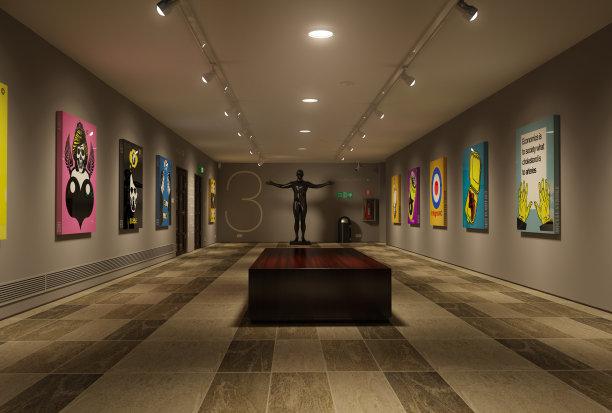 美术馆艺术雕像