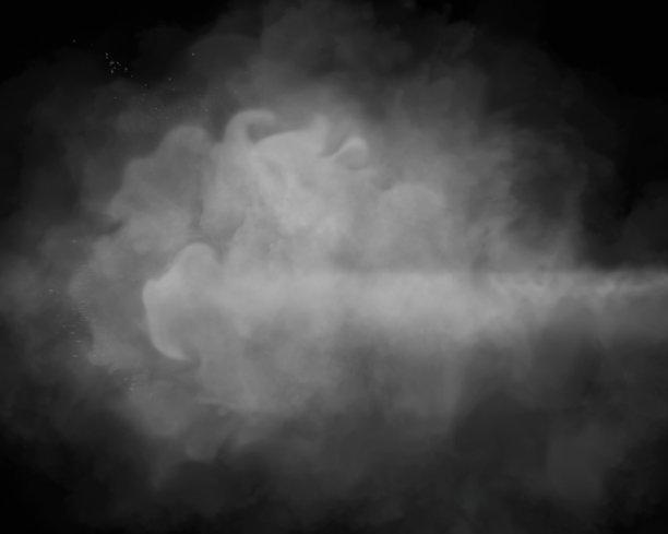 烟背景黑色背景