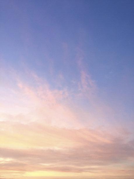 天空,蓝色,黎明