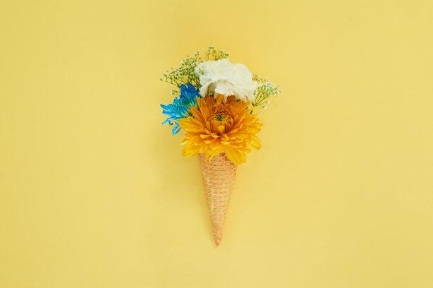 春天冰淇淋静物