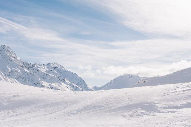 澳大利亚阿尔卑士山脉雪景