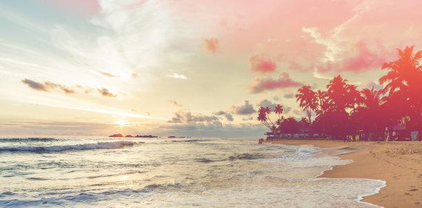 印度洋在上面斯里兰卡
