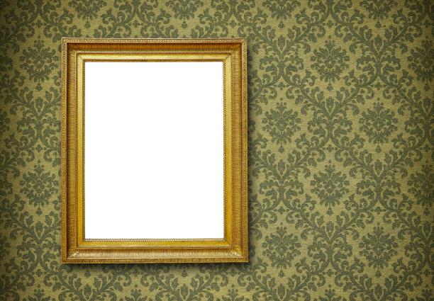 金色欧式花纹木质相框