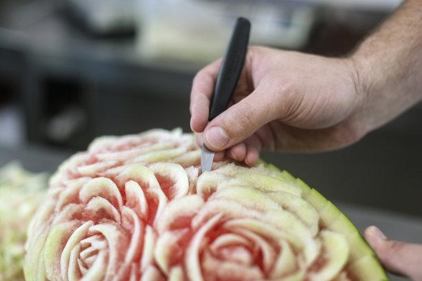 西瓜食品雕刻切肉刀叉