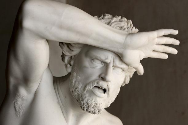 雕像人的头部手