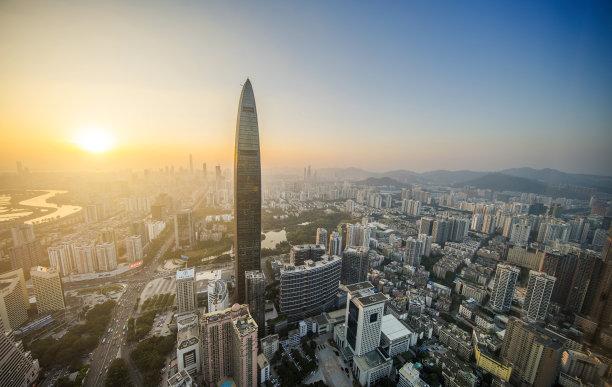 深圳摩天大楼高视角