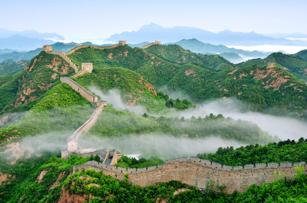 Great Wall of China in Stratosphere Fog China