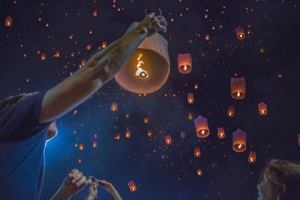 灯笼清迈省泰国