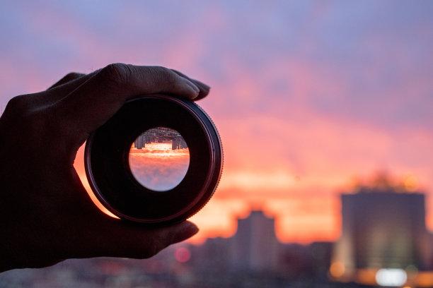 透镜相机风景