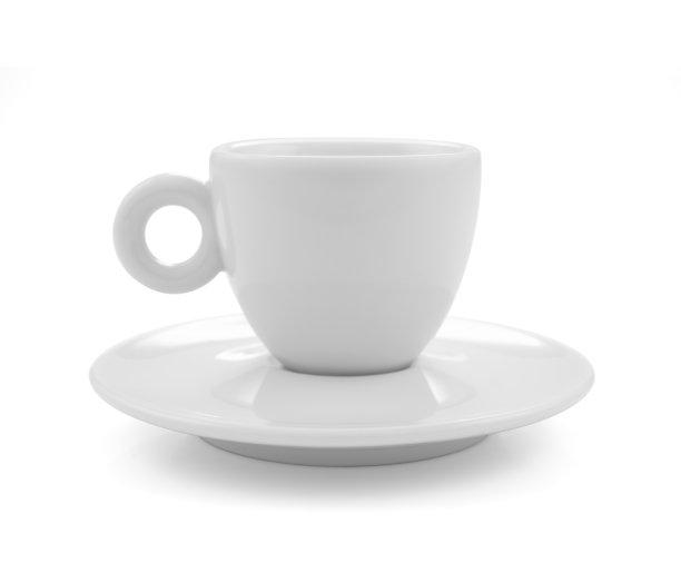 咖啡茶杯白色背景