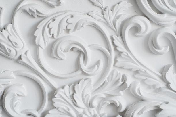 白灰泥白色洛可可风格