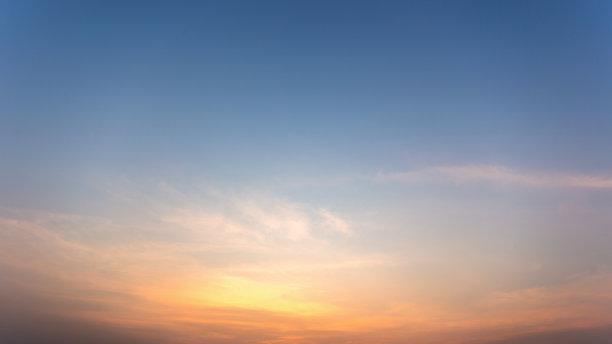 天空,云景,太阳