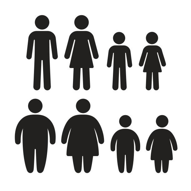 肥胖图标集身体质量指数