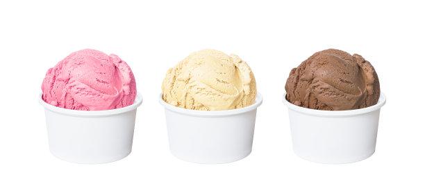 三色冰淇淋