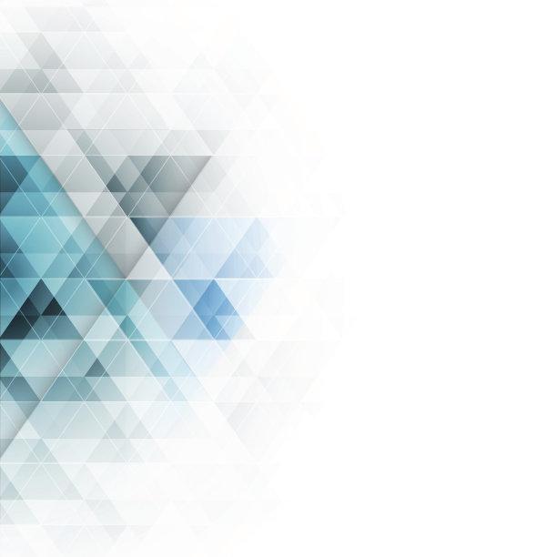三角形几何形状蓝色