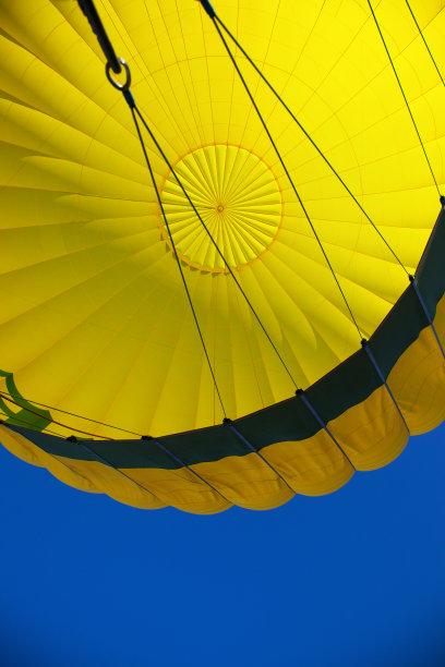 热气球,黄色,半空中
