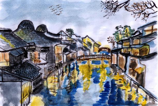 乌镇乡村河流