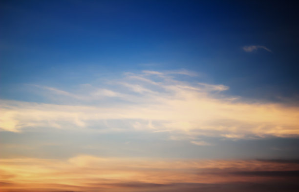 天空,黄昏,云